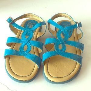 Toddler girl teal open toe sandals size 10